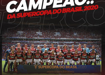 Flamengo vence o Athletico-PR e conquista Supercopa do Brasil