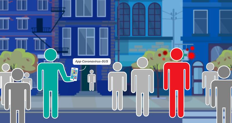 O app reconhece contatos próximos a uma distância de 1,5 a dois metros e por um tempo mínimo de cinco minutos entre smartphones que possuam o aplicativo instalado./ Crédito: Érica Passos