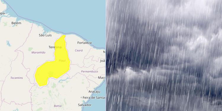 Alerta de chuva intensa para o Piauí